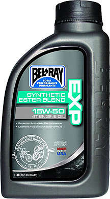 BEL-RAY Моторное масло EXP Synthetic Ester Blend 4T 15W-50 1л