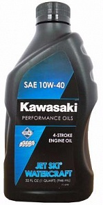 Kawasaki Масло мотор 4Т KAWASAKIPerformance Oils Jet Ski Watercraft SAE 10W-40 (0,946л)