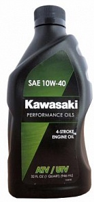 Kawasaki Масло мотор 4Т Performance Oils 4-Stroke Engine Oil ATV/UTV SAE 10W-40 (0,946л)