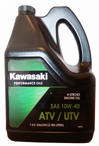 Kawasaki Масло мотор 4Т Performance Oils 4-Stroke Engine Oil ATV/UTV SAE 10W-40 (3,785л)