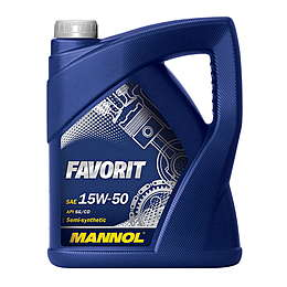 Mannol масло мотор Favorit 15W50 (5л)