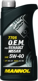 Mannol масло мотор синт O.E.M. for Renault Nissan 5W40 (1л)