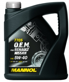 Mannol масло мотор синт O.E.M. for Renault Nissan 5W40 (4л)