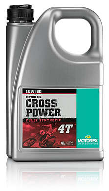 MOTOREX моторное масло Cross Power 4Т SAE 10W/60 (4л) синт.