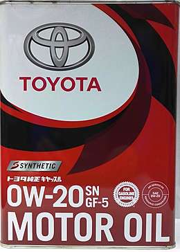 Toyota Motor Oil SN 0W20 Масло мотор. (4л)