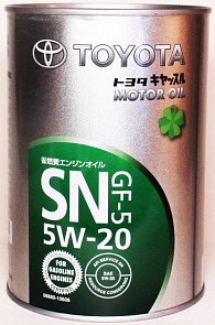 Toyota Motor Oil SN 5W20 Масло мотор. (1л)