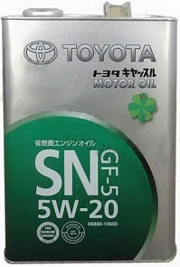 Toyota Motor Oil SN 5W20 Масло мотор. (4л)