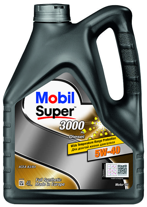 Mobil Super 3000 X1 DIESEL 5W-40 Моторное масло (4л)