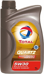 Total 5W30 Quartz Energy 9000 HKS Моторное масло (1л)