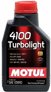 Motul Turbolight 4100 10W40 Масло мотор. (1л)