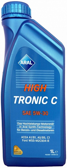 Aral масло мотор HighTronic C 5W-30 (1л)