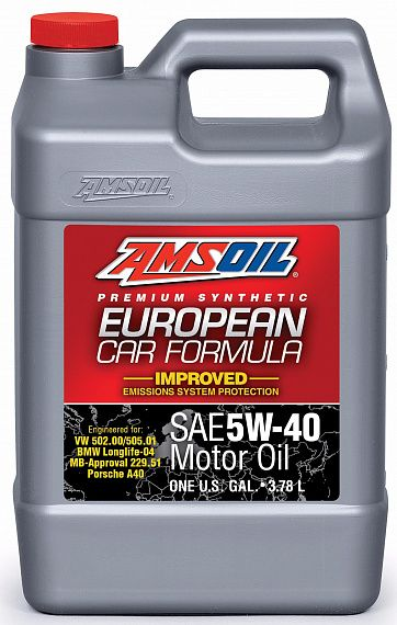 Моторное масло AMSOIL European Car Formula SAE 5W-40 Improved ESP Synthetic Motor Oil (3,78л)