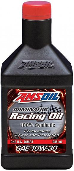 Моторное масло AMSOIL DOMINATOR® Synthetic Racing Oil SAE 10W-30 (0,946л)