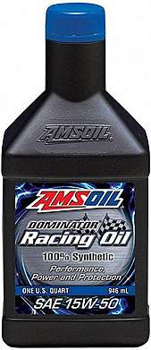 Моторное масло AMSOIL DOMINATOR® Synthetic Racing Oil SAE 15W-50 (0,946л)