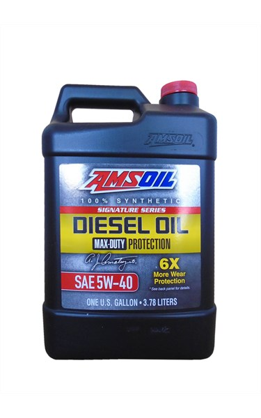 Моторное масло AMSOIL Signature Series Max-Duty Synthetic Diesel Oil 5W-40 (3,78л)
