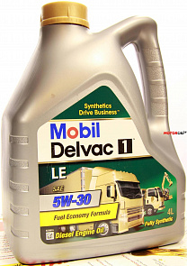 Mobil Delvac 1 LE 5W-30 масло мотор. (4л)