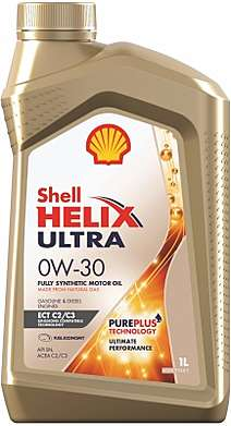 Shell Helix ultra ECT C2/C3 моторное масло 0w30 1л.