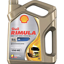 Shell Rimula R6 M 10W-40 масло моторное 4л.