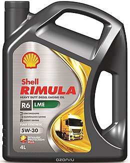 Shell моторное масло дизель Rimula R6 LME 5w30 (E7, 228,51) 4л.