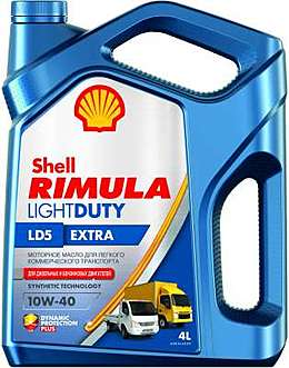 Shell Rimula LD5 Extra 10W-40 4l моторное масло