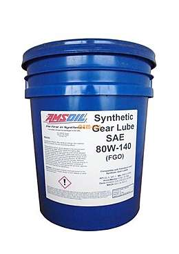 AMSOIL Масло трансмиссионное Synthetic Long Life Gear Lube SAE 80W-140 (18,9л)
