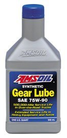 AMSOIL Масло трансмиссионное Synthetic Long Life Gear Lube SAE 75W-90 (0,946л)