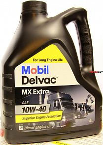 Mobil Delvac MX Extra 10W-40 масло мотор.  (4л)