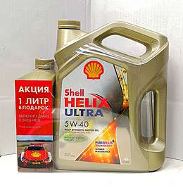 Shell Helix Ultra ECT C3 5w-30 4L+1 моторное масло
