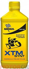 BARDAHL масло мотор. XTM SYNTHETIC 20W50 MOTO 1L